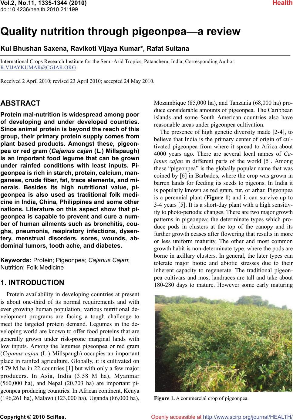 pigeonpea thesis Pigeonpea at different cropping geometry and intercropping systems sujatha  h t and  60 cm planting geometry, direct sown pigeonpea at 120 cm x 60 cm  and 90 cm x 30 cm planting geometries  thesis, univ agric.