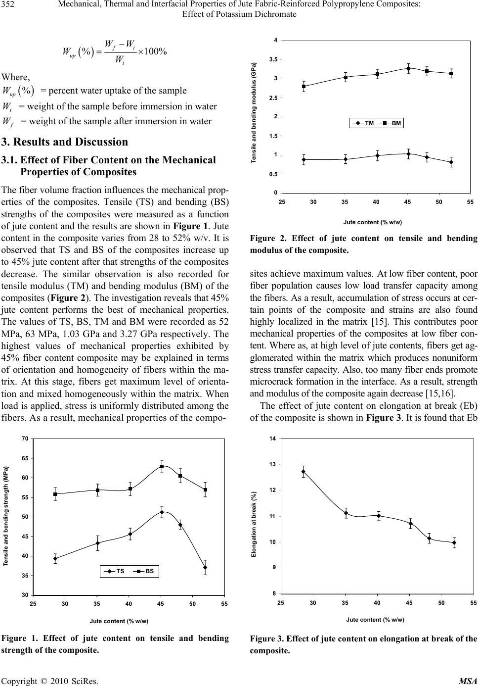 Mechanical, Thermal and Interfacial Properties of Jute