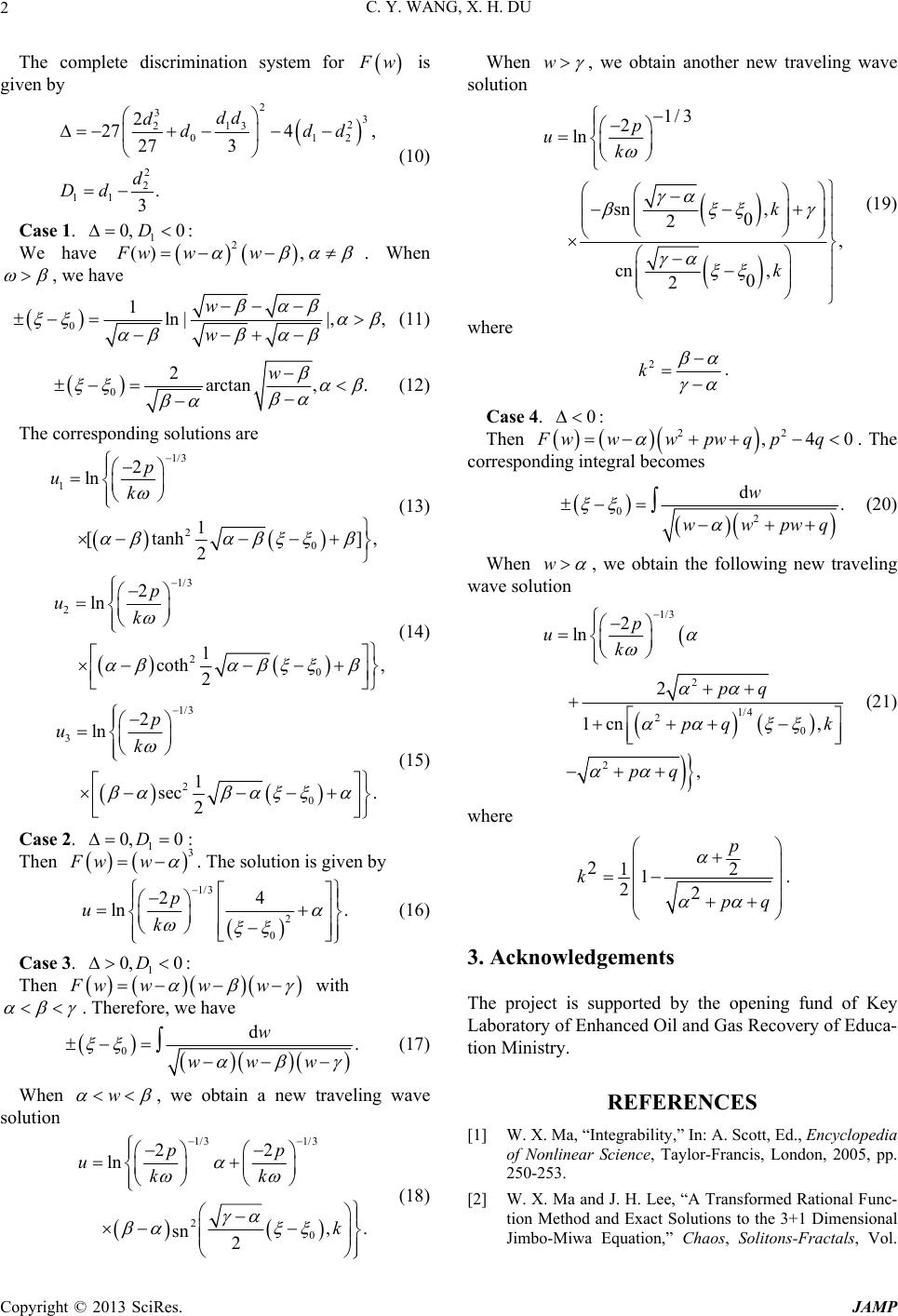 �9��^�K��kK.��.Y��_ClassifyingTravelingWaveSolutionstotheZhiber-ShabatEquation