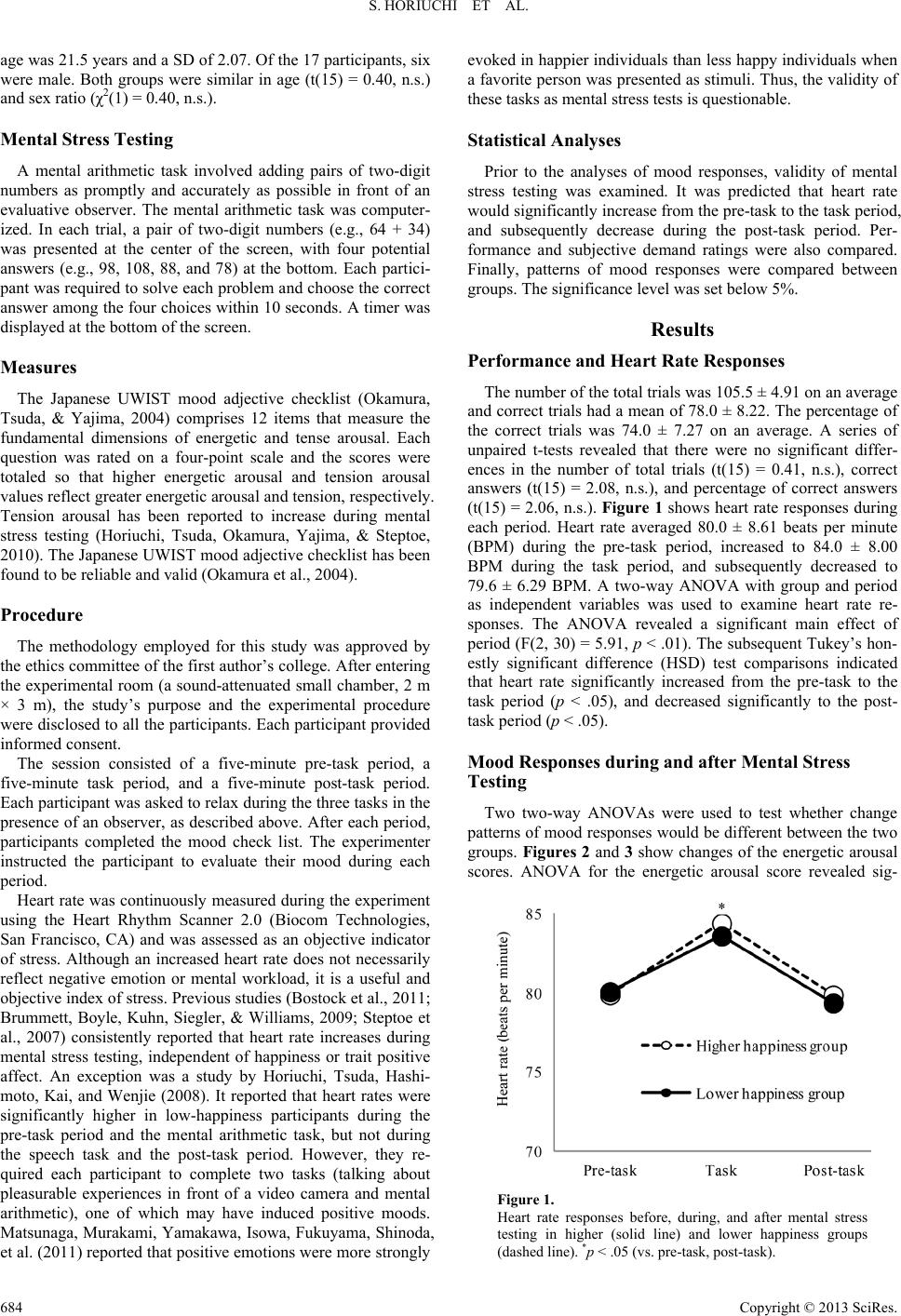 Association of increased levels of happiness with reduced levels of association of increased levels of happiness with reduced levels of tension and anxiety after mental stress testing in japanese college students spiritdancerdesigns Images