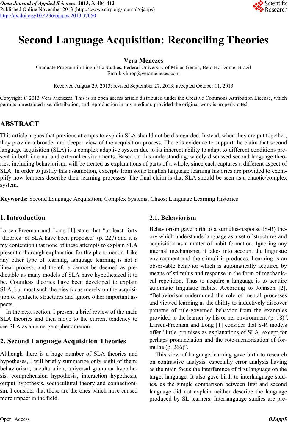 Behaviorism essay