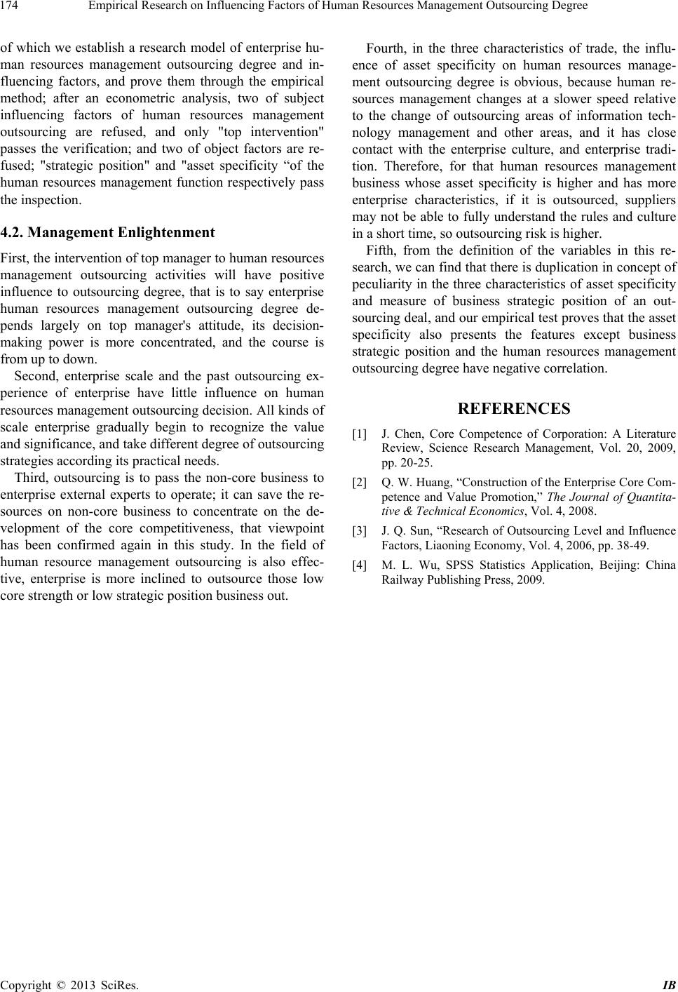 Hr related topics management thesis