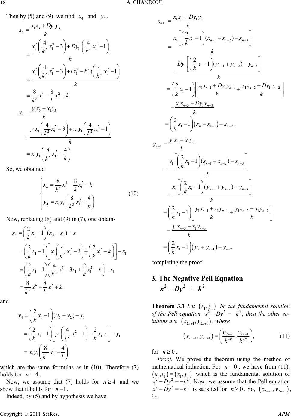 �9��^�K��kK.��.Y��_ThePellEquationX2-Dy2=±k2