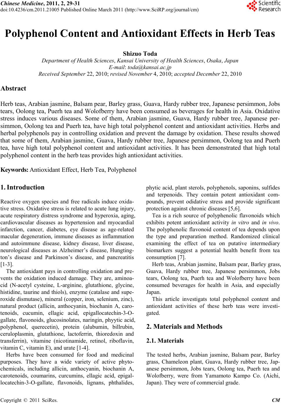 thesis on polyphenols