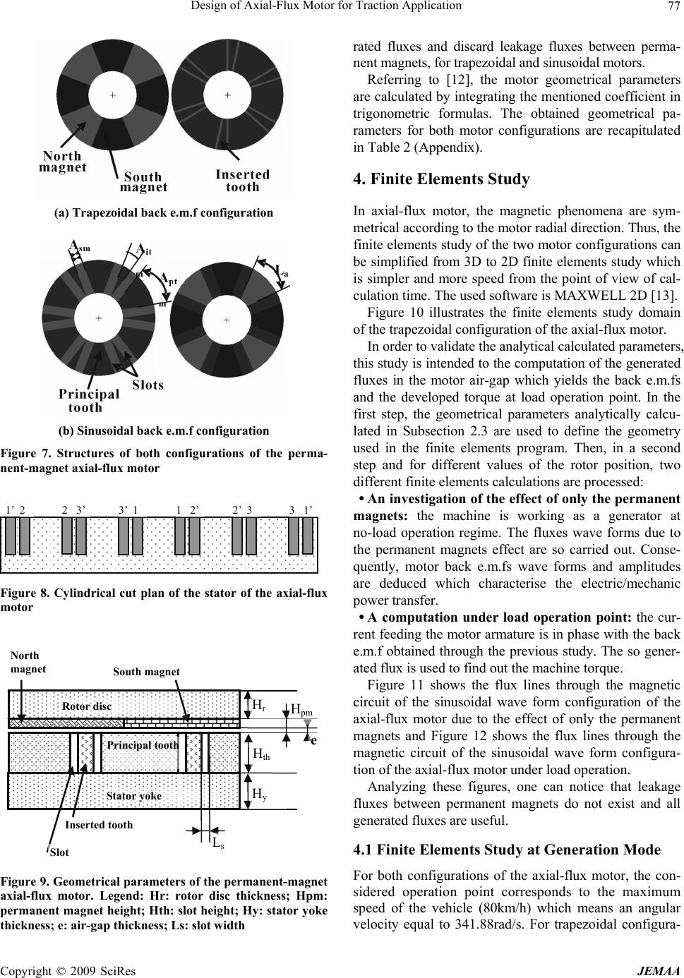 Design of Axial-Flux Motor for Traction Application