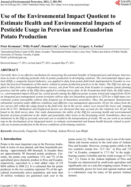 Indiscriminate use of fertilizers and pesticides essay
