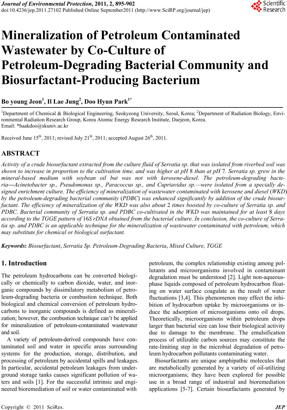 research paper on biosurfactant Full length research paper effect of biosurfactant from two strains of pseudomonas on germinating seedlings of cicer arietinum l and phaseolus mungo roxb.