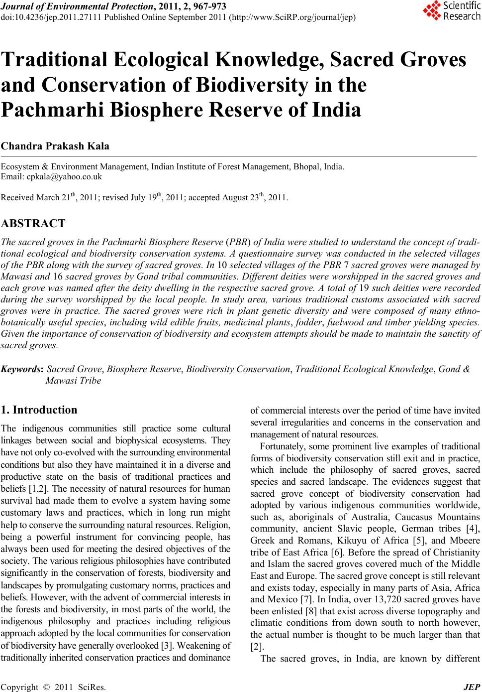 Essay on conservation of biodiversity in india