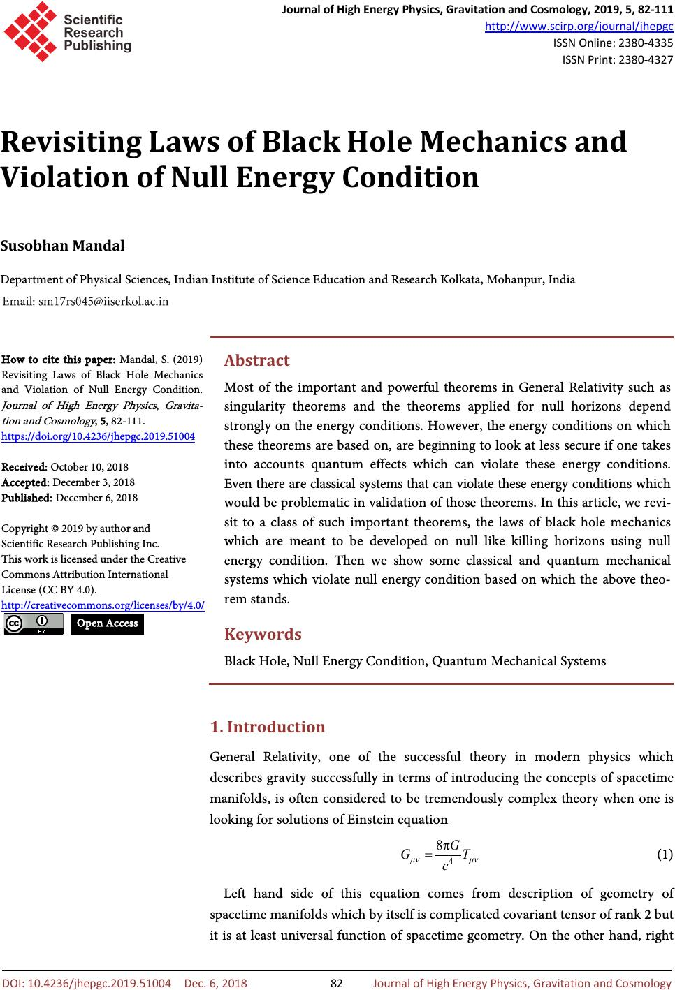 Revisiting Laws of Black Hole Mechanics and Violation of Null Energy