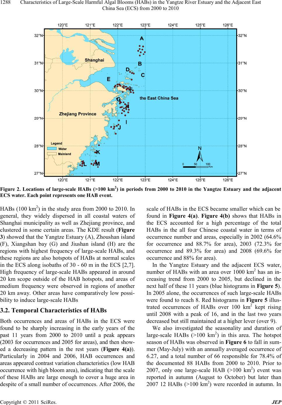 Characteristics of Large-Scale Harmful Algal Blooms (HABs