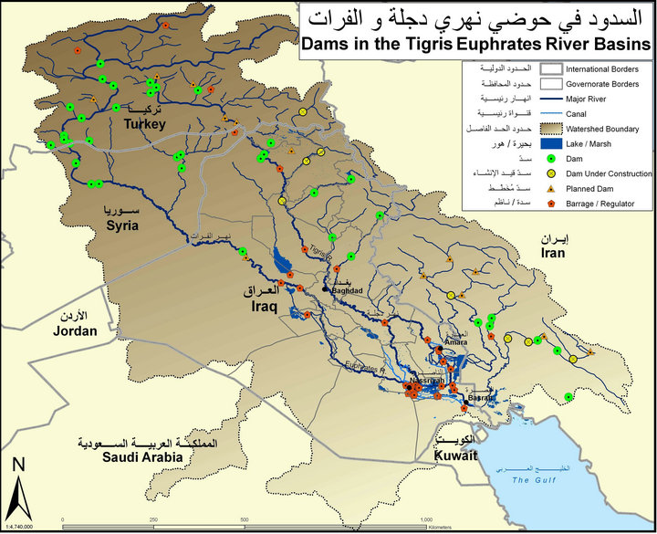 Euphrates river map location