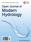 Open Journal of Modern Hydrology