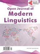 Open Journal of Modern Linguistics