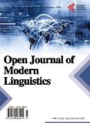 Open Journal of Modern Linguistics